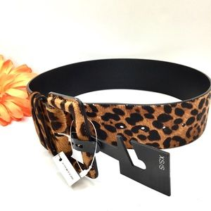 Express Animal Print Belt Sz XS/S